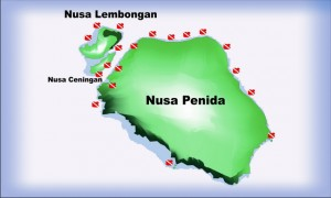 Dive sites around Nusa Penida