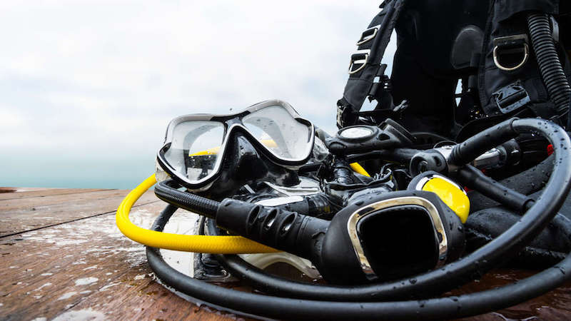 Dive equipment covid