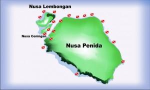 Dive sites around Nusa Penida
